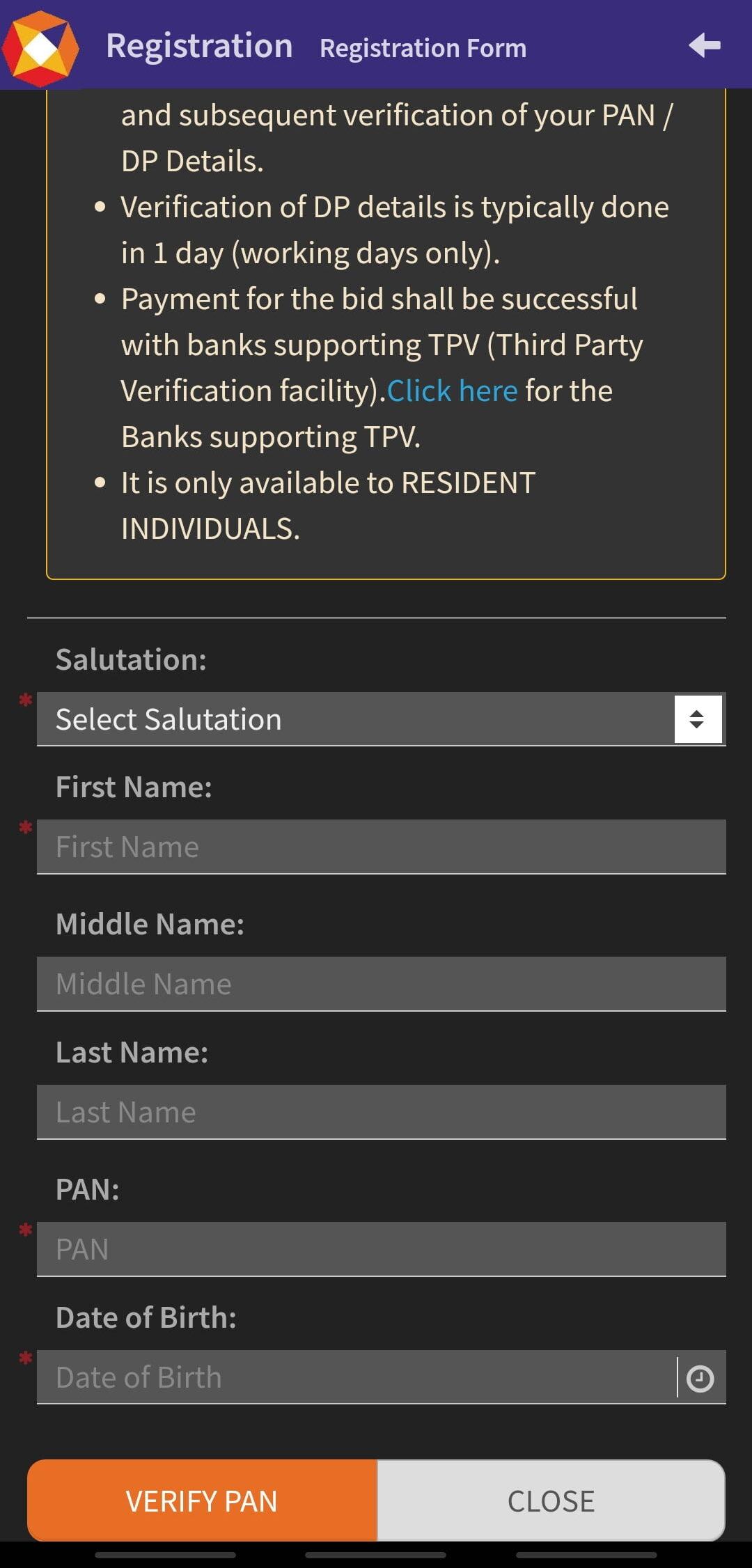 T-Bills through NSE goBID App reg page